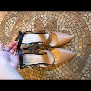 Banana republic leather pointed toe heals